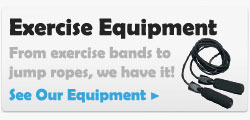 exercise equipment bands jump ropes